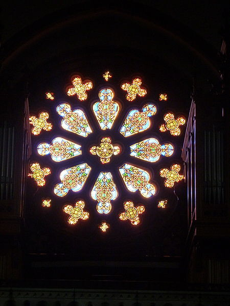 Rosace de la chapelle Sainte-Anne du couvent de la divine providence de Saint-Jean de Bassel.