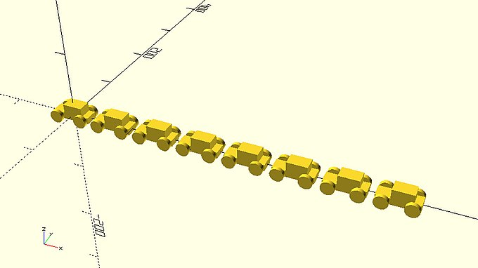 Row of eight cars along x axis.jpg