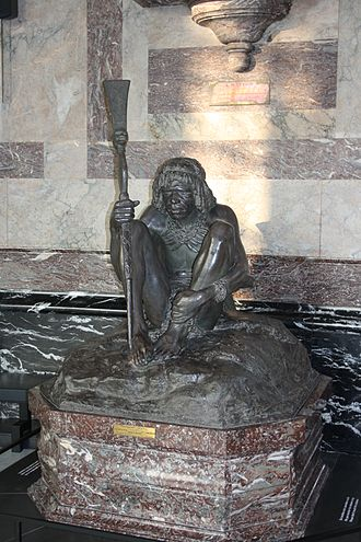 Herbert Ward (sculptor) - Le Chef de Tribu, Ward's Salon gold medal-winning sculpture of 1908, in the Royal Museum for Central Africa, Tervuren
