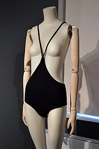 Rudi Gernreich c.1964 monokini, exhibited at 'The Vulgar' at Modemuseum Hasselt 2018.jpg