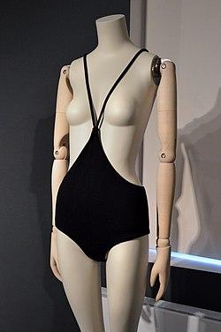 Rudi Gernreich c.1964 monokini, exhibited at 'The Vulgar' at Modemuseum Hasselt 2018.jpg