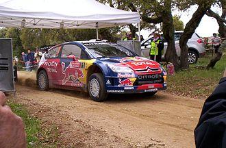 Rally Italia Sardegna - Four-time winner Sébastien Loeb at the start of a stage.