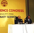 S. Jaipal Reddy addressing a press conference on 100 years of Indian Science Congress (to be held at Kolkata from January 3-7, 2013), in Kolkata. The Secretary, Department of Science and Technology.jpg