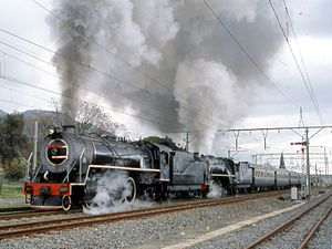 South African Class 16D 4-6-2 - No. 860 on the Union Limited, Paarl, c. 2001