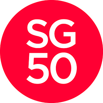 Golden jubilee - The Singapore50 logo representing the golden jubilee celebrations.