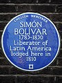 SIMÓN BOLÍVAR 1783-1830 Liberator of Latin America lodged here in 1810.jpg