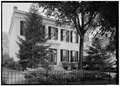 SOUTH FRONT, FROM THE SOUTHWEST - Jacob Shuh House, 718 West Main Street, Madison, Jefferson County, IN HABS IND,39-MAD,17-1.tif