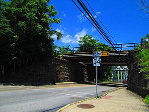 Pennsylvania Route 34 - PA 34 northbound through the borough of Newport