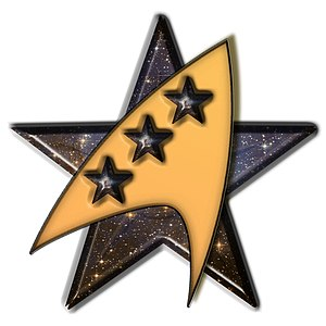 English: Three star barnstar for Star Trek Čes...