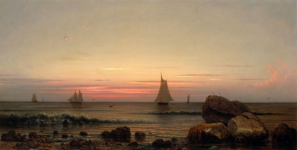File Sailing Off The Coast By Martin Johnson Heade 1869