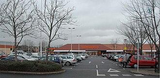 Harringay Stadium - The Sainsbury's supermarket on the site of the stadium, seen in 2008