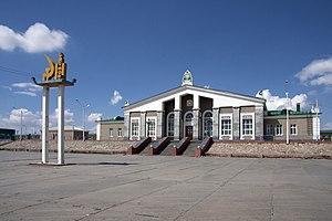Sainshand - The train station in Sainshand