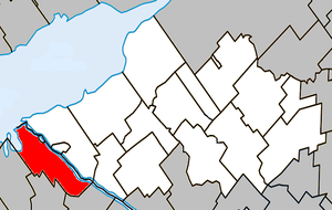 Saint-François-du-Lac, Quebec - Image: Saint François du Lac Quebec location diagram
