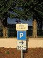 Saint-Vincent-de-Boisset - Route de la Mairie (plaque) - fév 2018.JPG