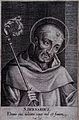 Saint Bernard of Clairvaux. Line engraving. Wellcome V0031715.jpg