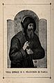 Saint Francis of Paula, head and shoulders; triptych with Wellcome V0031959.jpg