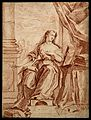 Saint Mary Magdalen. Red chalk drawing. Wellcome V0032694.jpg