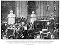 Salida de los invitados de la iglesia de San Francisco el Grande después de las honras fúnebres, funerales de Antonio Cánovas del Castillo, de Comba.jpg