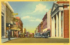 Salisbury, Maryland - Main Street in 1920