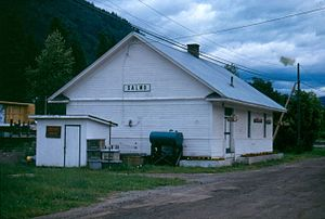 Salmo, British Columbia - Image: Salmo station 1993