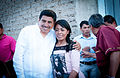 Salomon Jara y Andres Manuel Lopez Obrador en San Baltazar Chichicapam 09.jpg