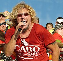 Sammy Hagar live at the Moondance Jam on July 10, 2008. Photo by Matt Becker