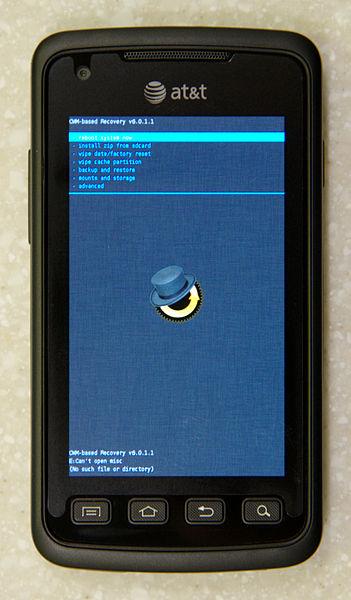 Datei:Samsung Rugby Smart ClockworkMod Recovery main menu.jpeg