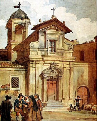 San Caio - San Caio depicted in watercolor between 1826 and 1835 by Achille Pinelli.