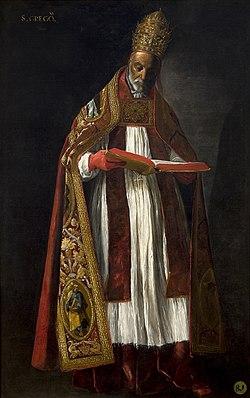 San Gregorio Magno, por Francisco de Zurbarán.jpg