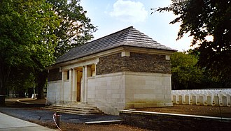 Sanctuary Wood Commonwealth War Graves Commission Cemetery - Image: Sanctuary Wood Cemetery Entrance Pavillion Redvers