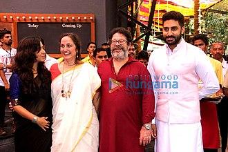Kunal Kapoor (actor) - Kunal Kapoor (2nd from right) with sister Sanjana Kapoor, daughter Shaira Laura Kapoor and Abhishek Bachchan, in 2015
