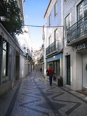 Permeable paving - Stone paving in Santarém, Portugal