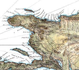 Ambroise Tardieu - Portion of Saint-Domingue map by Tardieu
