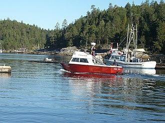 Lund, British Columbia - Image: Savary water taxi