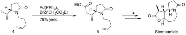 Synthesis of (−)-stemoamide