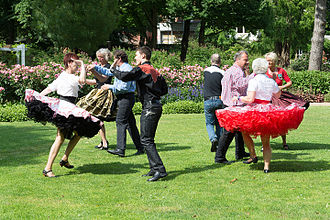 Square dance - Square dancers performing outdoors in Schleswig-Holstein, Germany in 2014