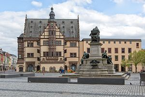 Schweinfurt - Market square with town hall