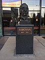 Sculpture of William Saroyan at the Theatre entrance.jpg
