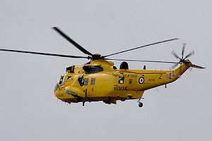 RM Chivenor - Sea King helicopter of 22 Squadron