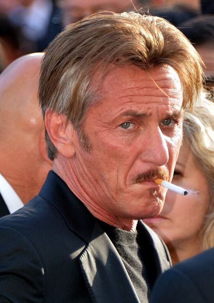 Penn promoting The Last Face at the 2016 Cannes Film Festival Sean Penn Cannes 2016.jpg
