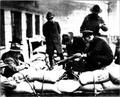 Seattle General Strike 1919 Police setting up mounted machine gun.png