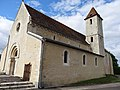 Sentilly, (Orne) Façade sud del l'église.JPG