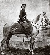 Serbian Cavalry officer 1865