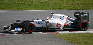 Sergio Pérez - Pérez on his way to third place in the 2012 Canadian Grand Prix, his second podium finish.