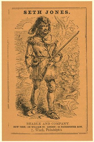 Dime novel - Cover of Seth Jones; or, The Captives of the Frontier by Edward S. Ellis (1860)
