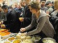 Sgt. Lindsay Ebert takes some Indian food during a Diwali celebration at the Wilderness Inn dining facility on Joint Base Elmendorf-Richardson, Alaska.jpg
