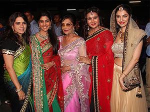 Shaina NC - Shaina NC, Sakshi Tanwar, Sadhana, Poonam Dhillon and Divya Khosla Kumar at Shaina NC's fashion show in May 2014
