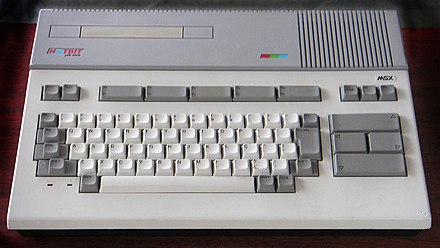 The Hotbit, developed by Sharp's Epcom home computer division, was a hit in Brazil Sharp HotBit MSX computer.jpg