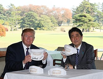 Kasumigaseki Country Club - Donald Trump and Shinzō Abe in Kasumigaseki Country Club