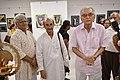 Shyamal Kumar Sen with Susanta Banerjee and Biswatosh Sengupta Visiting 43rd PAD Group Exhibition - Kolkata 2017-06-20 0374.JPG